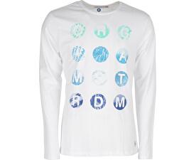 Pánské triko s dlouhým rukávem White 4414200-00