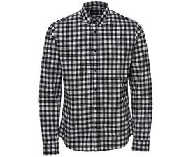 CămașăGordey LS Checkandprint Shirt Black pentru bărbați
