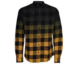 ONLY SONS Pánská košile Gudmund Ls Dip Dye Mandarine Shirt Chai Tea 86ef835800