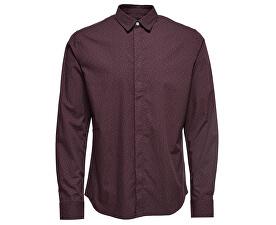Cămașă pentru bărbați Mens Otto Ls Shirt Ditsy Aop Shirt Fudge