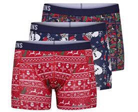 Boxer pentru bărbați Noel Trunk 3 Pack Haute Red