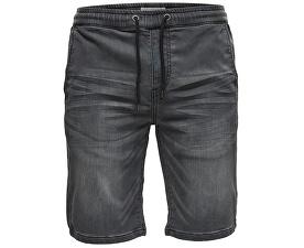 Pánské kraťasy Linus Jog Shorts Grey Pk 9063 Grey Denim