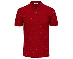 TricouDeon Ss Polo Pompeian Red pentru bărbați