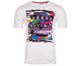 Tricou pentru bărbați Dermot SS Fited Tee White As White Sample
