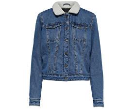 Jachetă pentru femei Chris L/S Teddy Full Dnm Jacket Bj Medium Blue Denim