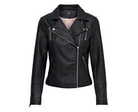 Dámska bunda Leather Look Jacket Black