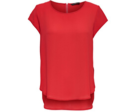 Dámská halenka ONLVIC S/S SOLID TOP NOOS WVN High Risk Red