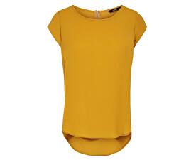 Dámská halenka Vic S/S Solid Top Noos Wvn Golden Yellow