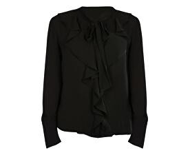 Dámská košile New Intu Ls Frill Shirt Wbn Black