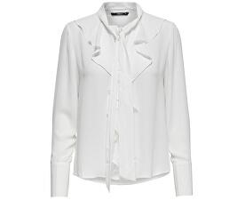 Dámska košeľa New Intu Ls Frill Shirt WBN White