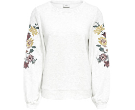 Dámska mikina Anna L / S Embroidery O-neck Swt Oatmeal