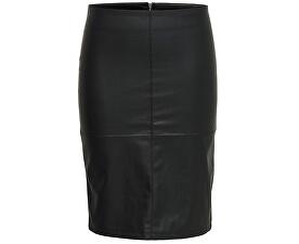 Fustă pentru femei Ticket Faux Leather Skirt Otw Noos Black