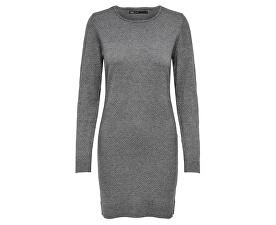 Dámske šaty ONLBRENDA L / S DRESS KNT Medium Grey Melange
