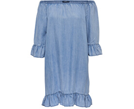Dámské šaty Seco Lightblue Shoulder Dnm Dress Noos Light Blue Denim