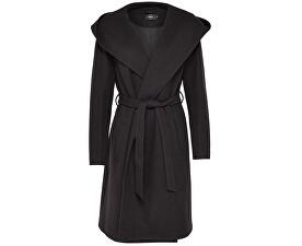 Dámský kabát Riley Wool Hooded Wrap Coat Cc Otw Black