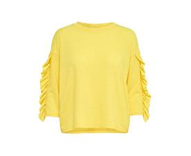 Dámsky sveter Ida Spring 3/4 Ruffle Pullover KNT Golden Kiwi