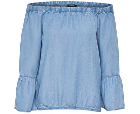 Dámské triko Sandy Off Shoulder Dnm Top Light Blue Denim