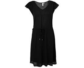 Dámské černé krepové šaty