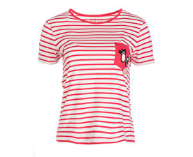 Tricou de damă  Bahamas Cottage B Rouge Red Basic Bico Stripes ERJZT04181-MLJ3