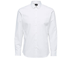 Pánska košeľa Slimpreston-Clean Shirt Ls B Noos Bright White