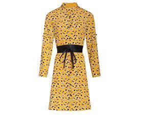 Női ruha 19599 Yellow/Black