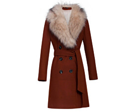 Dámský kabát 19669 Tabacco
