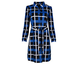 Dámský kabát Black/Blue 18501