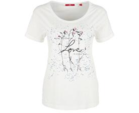 Dámske tričko 14.807.32.3505.02D0 Creme placed print