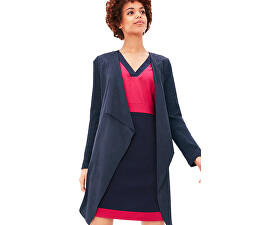 Cardigan albastru în model blazer pentru femei