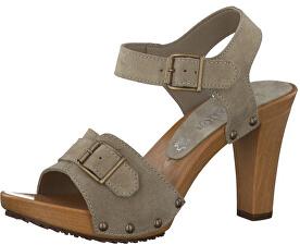 Elegantní dámské páskové boty Taupe 5-5-28301-28-341