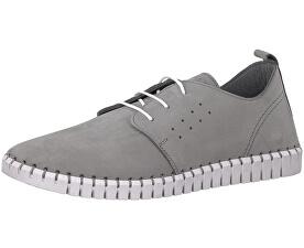 Elegantné pánske poltopánky Leather LT Grey 5-5-13639-38-210