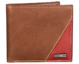 Pánská kožená peněženka Flash Leather Wallet Brown/rust STABY85