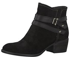 2b85404198ced Tamaris Dámske členkové topánky 1-1-25010-21-007 Black Uni