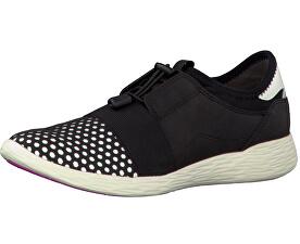 Elegantní dámské boty 1-1-23722-28 Black/White