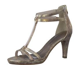 Elegantní dámské páskové boty 1-1-28006-38 Gold Structure