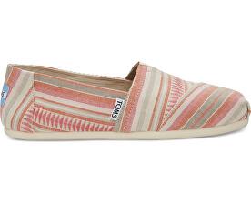Dámské růžové Slip-On Coral Blanket Stripe Seasonal Classics Alpargatas