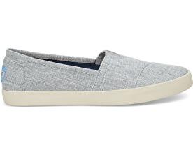 Dámske šedé Slip-On Drizzle Grey Lurex Woven Avalon Slip-on
