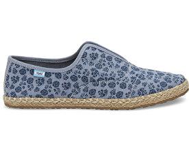 Dámske modré Slip-On Navy Ditsy Floral Palmera Slip-on