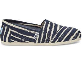 Dámske Slip-On Navy Paint ed Stripe Seasonal Class ic s Alpargata s