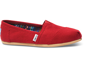Dámské Slip-On Red Canvas Core Classics Alpargatas