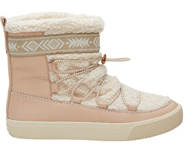 TOMS Dámské sněhule Dark Blush Leather Faux Shearling 474b8d7de1