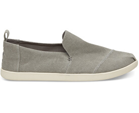 Pánské šedé Slip-On Drizzle Grey Washed Canvas Deconstr. Alpargatas