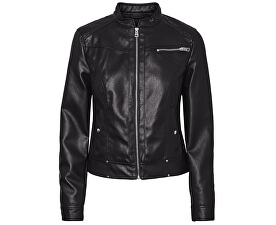 Dámská bunda VMSHEENA SHORT FAUX LEATHER JACKET PI Black