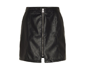 Dámska sukňa Jana Connery Short Faux Leather Skirt Black