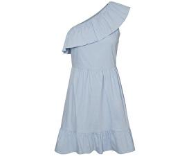 Dámské šaty Sia One Shoulder Frill Short Dress Cerulean