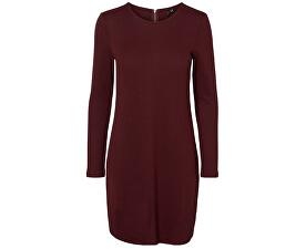 Dámské šaty VMmalena LS Dress EXP Noos 10202254-Winetasting