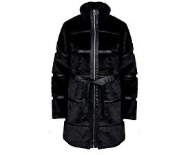 Dámský kabát Ninja 3/4 Faux Fur Jacket Black