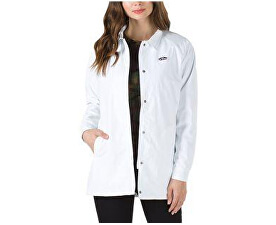 Femeile Jack Thanks Coach Long Jacket Mte White VA3AOAWHT