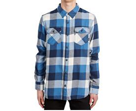 Pánska košeľa Box Flannel Delft/Marshmallow V00JOGO6A