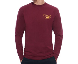 Pánské triko Full Patch Back Ls Burgundy/Mineral Yellow VA2XCMO7J